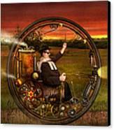 Steampunk - The Gentleman's Monowheel Canvas Print by Mike Savad