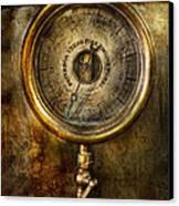Steampunk - The Pressure Gauge Canvas Print by Mike Savad