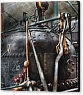 Steampunk - The Steam Engine Canvas Print by Mike Savad