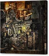 Steampunk - The Turret Computer  Canvas Print by Mike Savad