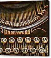 Steampunk - Typewriter - Underwood Canvas Print by Paul Ward
