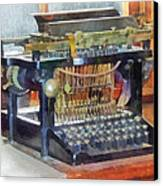 Steampunk - Vintage Typewriter Canvas Print by Susan Savad