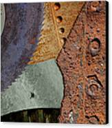 Steel Collage Canvas Print by Fran Riley