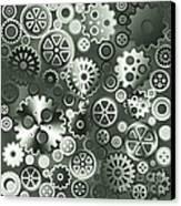 Steel Gears Canvas Print