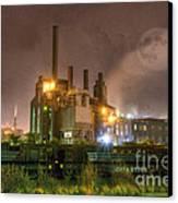 Steel Mill At Night Canvas Print
