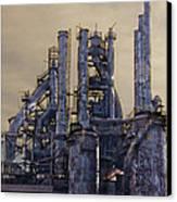 Steel Mill - Bethlehem Pa Canvas Print by Bill Cannon