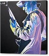 Stefan Lessard Colorful Full Band Series Canvas Print by Joshua Morton