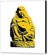 Stencil Buddha Yellow Canvas Print