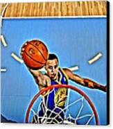Steph Curry Canvas Print by Florian Rodarte