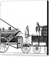 Stephensons Rocket 1829 Canvas Print
