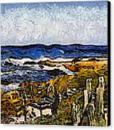 Steps To The Sea Abstract Canvas Print by Barbara Snyder