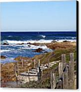 Steps To The Sea Canvas Print