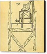 Stevens Roller Coaster Patent Art  3 1884 Canvas Print by Ian Monk