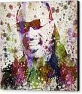 Stevie Wonder Portrait Canvas Print by Aged Pixel