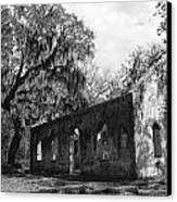 St.helena Chapel Of Ease Bw 1 Canvas Print by Steven  Taylor