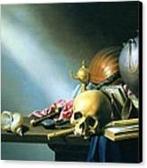 Still Life An Allegory Of The Vanities Of Human Life Canvas Print