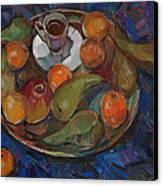 Still Life On A Tray Canvas Print by Juliya Zhukova
