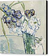 Still Life Vase Of Carnations Canvas Print by Vincent van Gogh