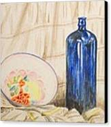 Still-life With Blue Bottle Canvas Print