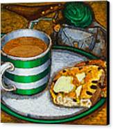 Still Life With Green Touring Bike Canvas Print by Mark Jones