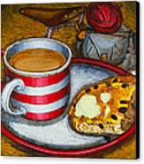 Still Life With Red Touring Bike Canvas Print by Mark Howard Jones