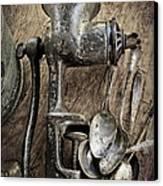 Still Life With Silverware Canvas Print by Elena Nosyreva