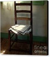 Still Life With Straight Chair Canvas Print