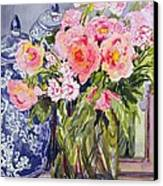 Still Life With Two Blue Ginger Jars Canvas Print by Joan Thewsey
