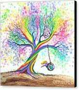 Still More Rainbow Tree Dreams Canvas Print by Nick Gustafson