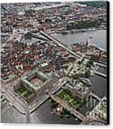 Stockholm Aerial View Canvas Print by Lars Ruecker