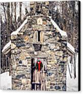 Stone Chapel In The Woods Trapp Family Lodge Stowe Vermont Canvas Print by Edward Fielding