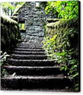 Stone House Stairs Canvas Print by Lizbeth Bostrom