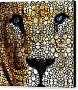 Stone Rock'd Lion 2 - Sharon Cummings Canvas Print