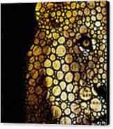 Stone Rock'd Lion - Sharon Cummings Canvas Print by Sharon Cummings