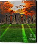 Stonehenge At Solstice Canvas Print by Skye Ryan-Evans