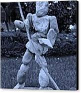 Stoneman In Cyan Canvas Print