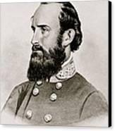 Stonewall Jackson Confederate General Portrait Canvas Print