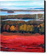 Stonington Bridge In Autumn Canvas Print