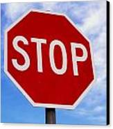 Stop Sign Ireland Canvas Print