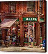 Store - Albany Ny -  The Bayou Canvas Print by Mike Savad