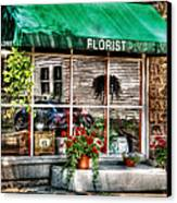 Store - Florist Canvas Print by Mike Savad
