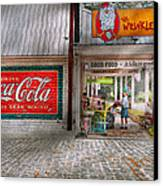 Store Front - Life Is Good Canvas Print by Mike Savad