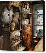 Store - Turn Of The Century Soda Fountain Canvas Print by Mike Savad