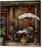 Storefront - Frenchtown Nj - The Boutique Canvas Print by Mike Savad