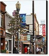 Storefront Shops In Truckee California 5d27489 Canvas Print by Wingsdomain Art and Photography