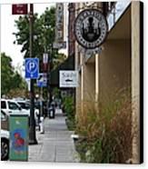 Storefronts In Historic Railroad Square Area Santa Rosa California 5d25806 Canvas Print