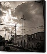 Storm Clouds Over Chartres Street In New Orleans.  Canvas Print