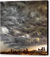 Storm Coulds Over Nyc Canvas Print