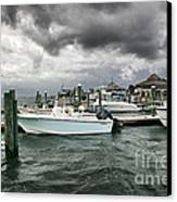 Storm Over Banks Channel Canvas Print by Phil Mancuso