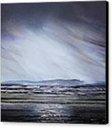 Storm Over Druridge Bay Northumberland 1 Canvas Print by Mike   Bell